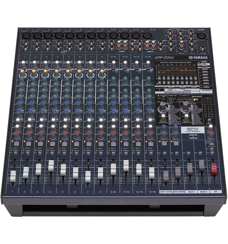 yamaha emx5016cf 500w 16 ch console type powered mixer. Black Bedroom Furniture Sets. Home Design Ideas