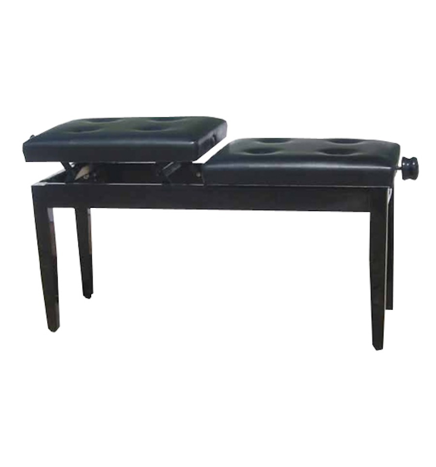 Beale Piano Bench S480bz4 Adjustable Duet Polished Ebony Sound Centre