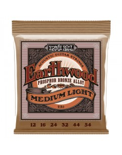 Ernie Ball 12-54 Medium Light Earthwood Acoustic Phosphor Bronze
