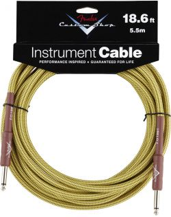 Fender 18ft Custom Shop Guitar Cable - Tweed