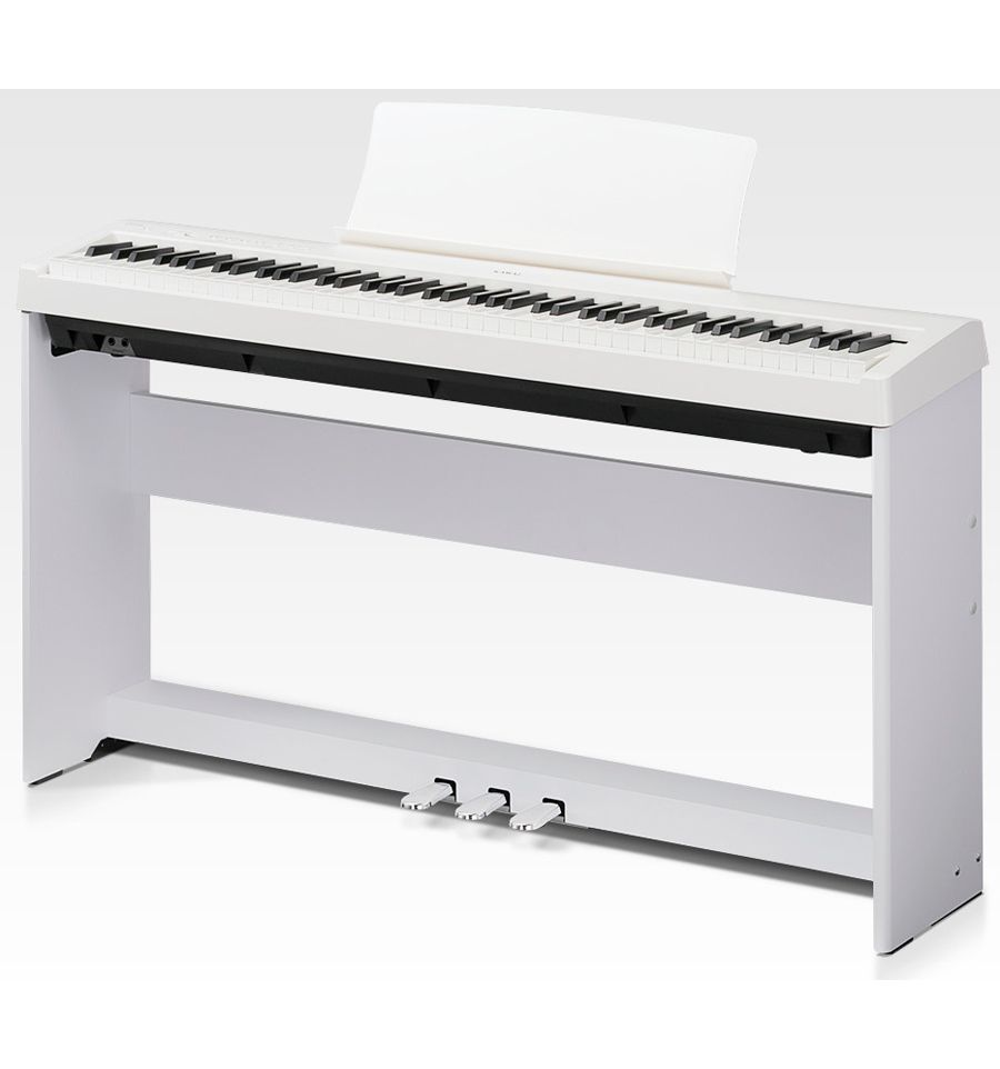 kawai es110 digital piano kit with stand and pedalboard white sound centre. Black Bedroom Furniture Sets. Home Design Ideas
