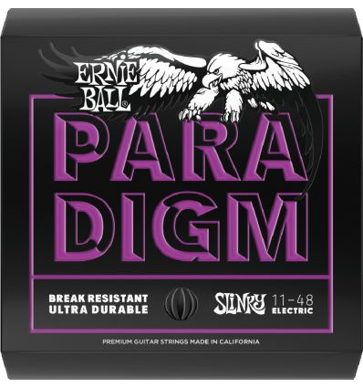 Ernie Ball 11-48 Paradigm Power Slinky Electric Guitar Strings - Front