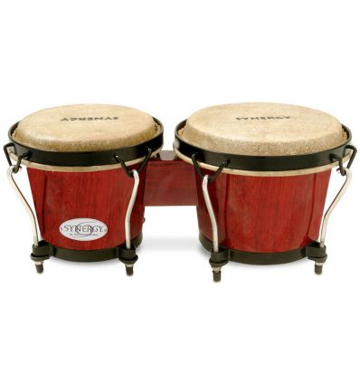 Toca Percussion Synergy 6 Inch Wooden Bongos - Red