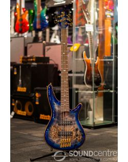 Ibanez Premium SR2605 5 String Electric Bass - Cerulean Blue Burst