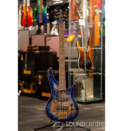 Ibanez SR2605 5 String Electric Bass - Cerulean Blue Burst