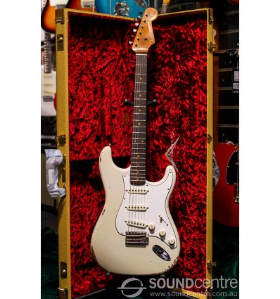 Fender Custom Shop 2018 Limited Edition Roasted Tomatillo Stratocaster Heavy Relic - Aged Olympic White
