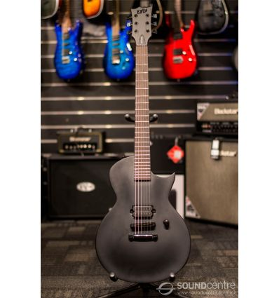 LTD EC Black Metal Series Electric Guitar - Black Satin