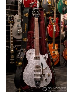 Gretsch G6129T Players Edition Jet With Bigsby - Silver Sparkle