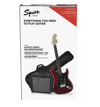 Squier Affinity HSS Stratocaster Electric Guitar Pack - Candy Apple Red