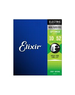 Elixir Optiweb 10-52 Light Top Heavy Bottom Electric Guitar Strings