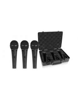 Behringer Ultravoice XM1800S Dynamic Cardioid Vocal Microphone 3 Pack