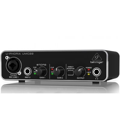 Behringer U-PHORIA UMC22 USB Audio Interface