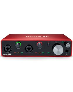 Focusrite Scarlett 4i4 Generation 3 4-In/4-Out Studio USB-C Audio Interface
