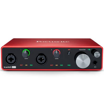 Focusrite Scarlett 4i4 4 in 4 Out Studio Gen 3 USB Audio Interface