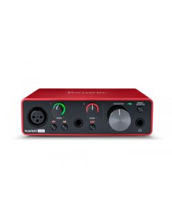 Focusrite Scarlett Solo Generation 3 2-In/2-Out USB-C Audio Interface