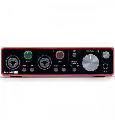 Focusrite Scarlett 2i2 Generation 3 2-In/2-Out USB-C Audio Interface