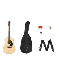 Fender CD-60S V2 Dreadnought Acoustic Guitar Pack - Natural