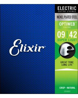 Elixir Optiweb 9-42 Electric Guitar Strings - Super Lite