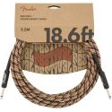 Fender 18.6 Foot Straight To Straight Festival Pure Hemp Instrument Cable - Rainbow