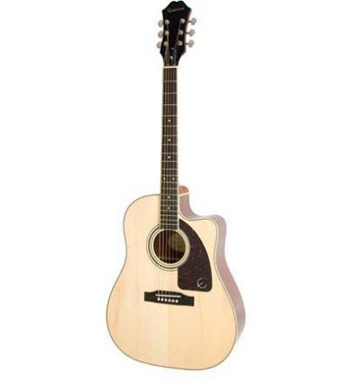 Epiphone AJ-220SCE Solid Top Acoustic/Electric Guitar - Natural
