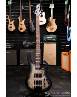 ESP LTD D-4 Poplar Burl - Black Natural Burst Satin