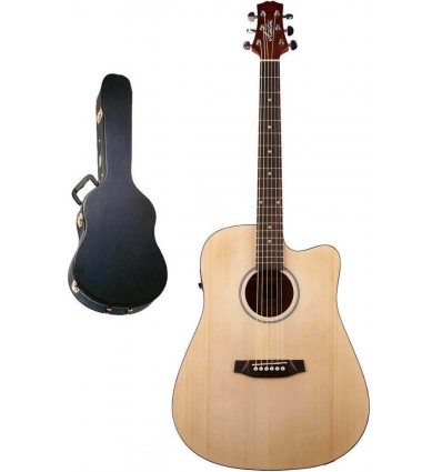 Ashton D20SCEQ Solid Top Acoustic Electric Guitar Pack With Case