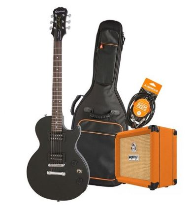 Epiphone Les Paul Special Electric Guitar Pack With Orange Crush 12 + Accessories - Ebony