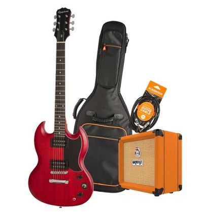 Epiphone SG Special Electric Guitar Pack With Orange Crush 12 + Accessories - Cherry