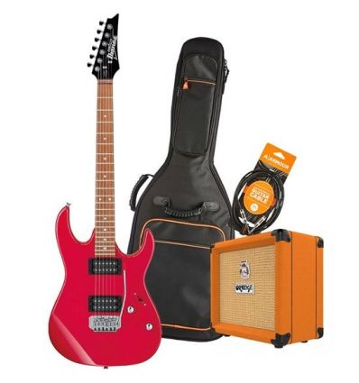 Ibanez GIO RX22EX Electric Guitar Pack With Orange Crush 12 + Accessories - Red
