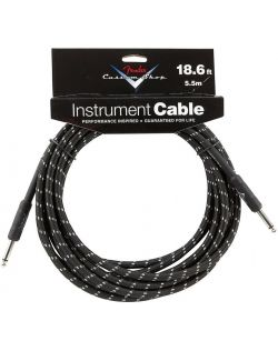 Fender 18ft Custom Shop Guitar Cable - Black Tweed