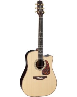 Takamine P7DC Acoustic-Electric Guitar - Natural
