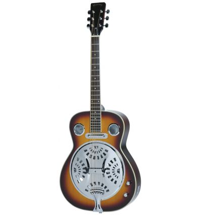 Martinez Acoustic-Electric Resonator Guitar - Vintage Sunburst