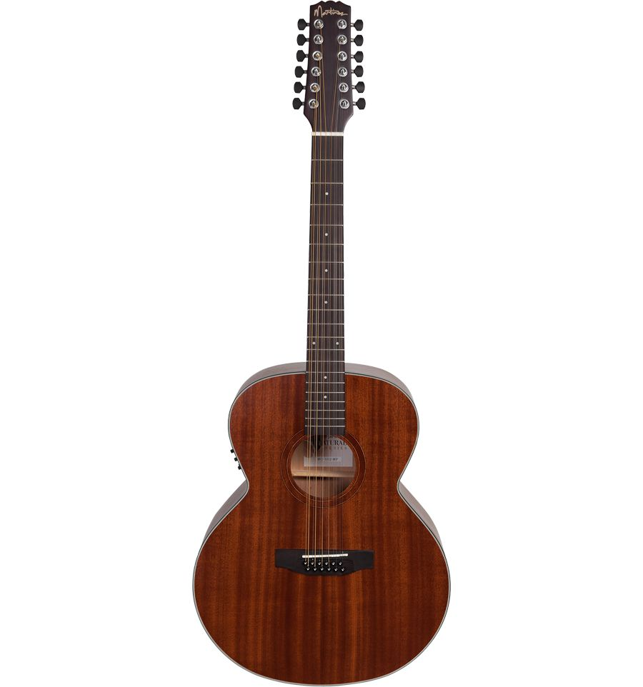 martinez natural series jumbo 12 string acoustic electric guitar mahogany sound centre. Black Bedroom Furniture Sets. Home Design Ideas