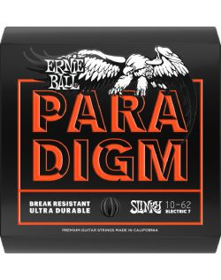 Ernie Ball 10-62 Paradigm Skinny Top Heavy Bottom Slinky 7-String Electric Guitar Strings