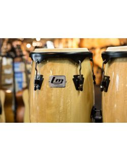 Ludwig LM Percussion 10 & 11 Inch Conga Set With Stand - Black Coated