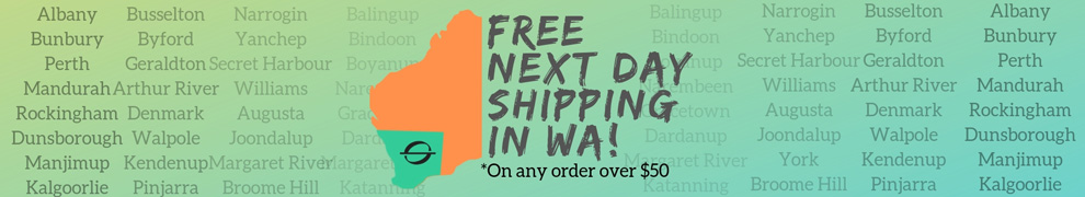 next day WA free shipping banner