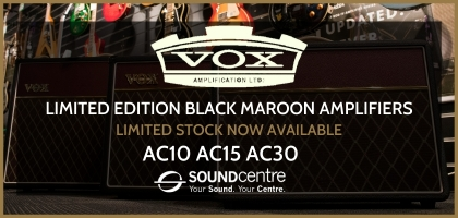 Limited Edition Black Maroon VOX AC Amplifiers At Sound Centre