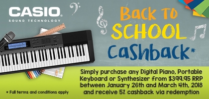 Casio Back To School Cashback