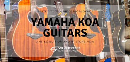 Limited Edition Yamaha AC4 + A4 Hawaiian Koa Guitars Arrive at Sound Centre