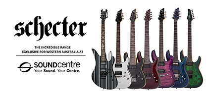 Schecter Guitars Arrive Exclusive For Western Australia At Sound Centre