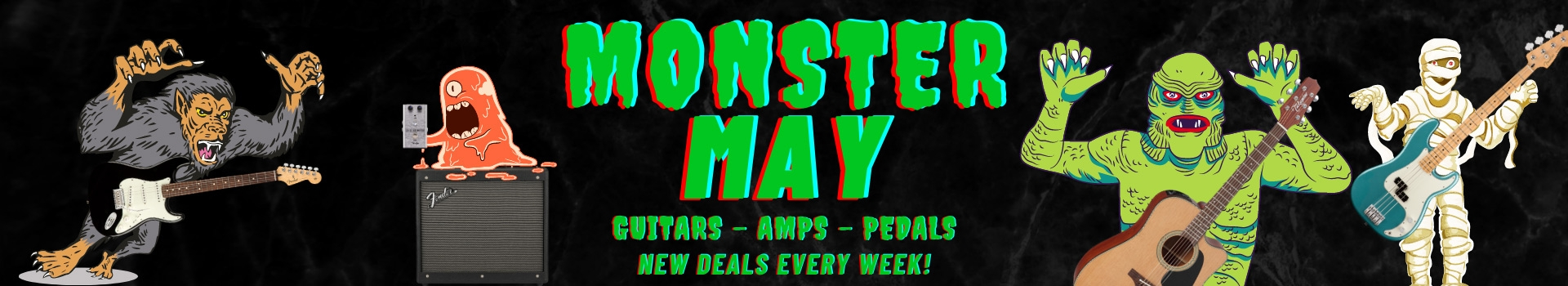 Monster May 2021 - Guitars, Amps + Pedals